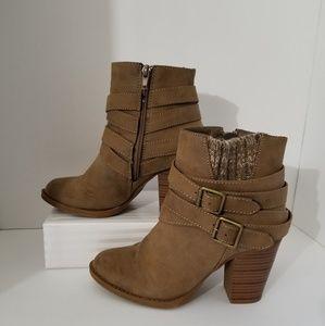Shoedazzle Riley Ankle Boots